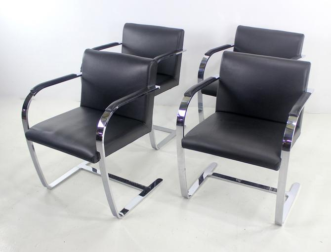 Mid-Century Modern Armchairs Designed by Ludwig Mies Van der Rohe