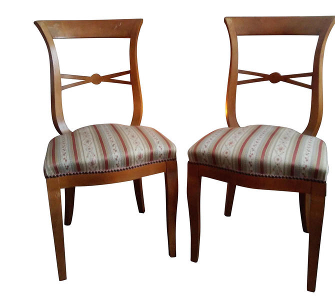 VINTAGE Mid Century Modern  Italian Dining Chairs by Designer Phillip SELVA by 3GirlsAntiques