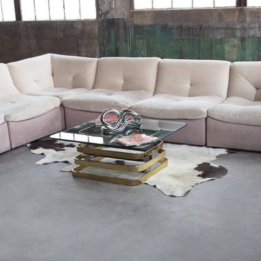 "Minimalist POSTMODERN Modular 6 piece sofa sectional Post Modern Modernist WOW ""pit sofa"" Milo Baughman De Sede Togo Roset Bobois Attributed by CatchMyDriftVintage"