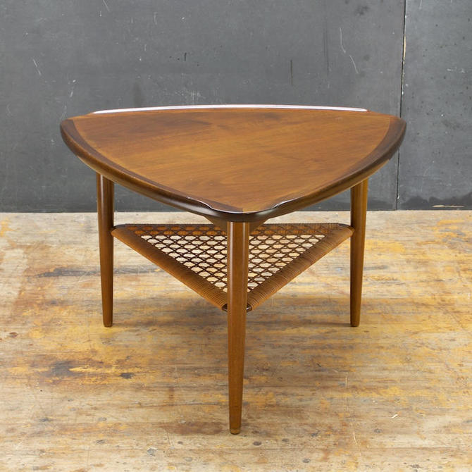 Selig Triangle Side Table Ib Kofod Larsen Danish Teak Mid