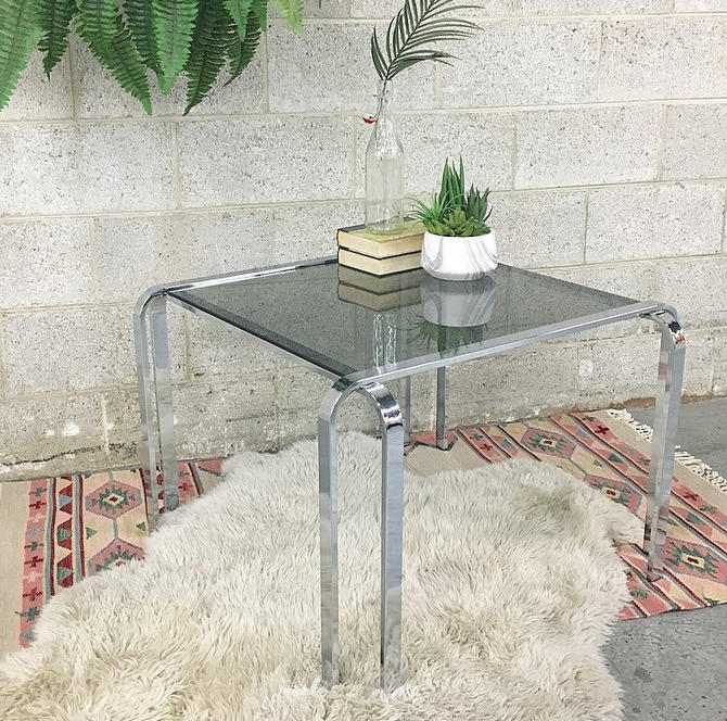 LOCAL PICKUP ONLY ------------- Vintage Chrome Table by RetrospectVintage215
