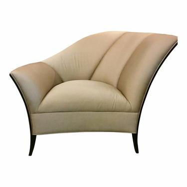 Caracole Modern Art Deco Style Beige Club Chair