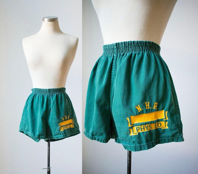 0a70820d9 Vintage 1960s Gym Shorts / Vintage Cotton Gym Shorts / Vintage ...