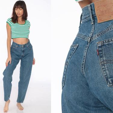 Levis Mom Jeans 28 -- High Waist Jeans 80s Jeans Blue Jeans Distressed Levi High Waist Denim Pants 560 Tapered 1980s Vintage Small 28 by ShopExile