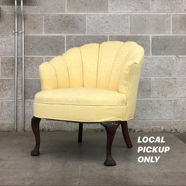LOCAL PICKUP ONLY ———— Vintage Shell Barrel Chair by RetrospectVintage215