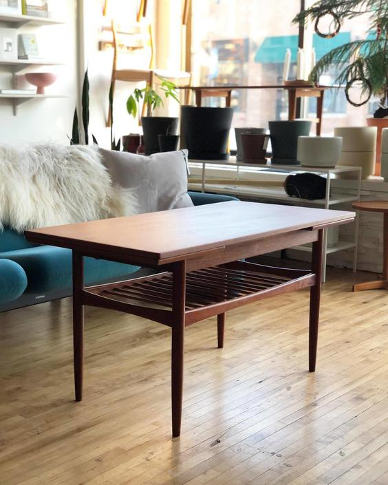 Expanding Teak Coffee Table