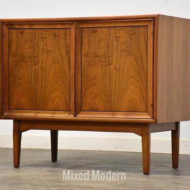 Walnut Drexel Credenza Cabinet by Kipp Stewart & Stewart MacDougall by mixedmodern1