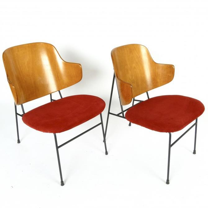 "Pair of Ib Kofod Larsen ""Penguin"" Chairs"