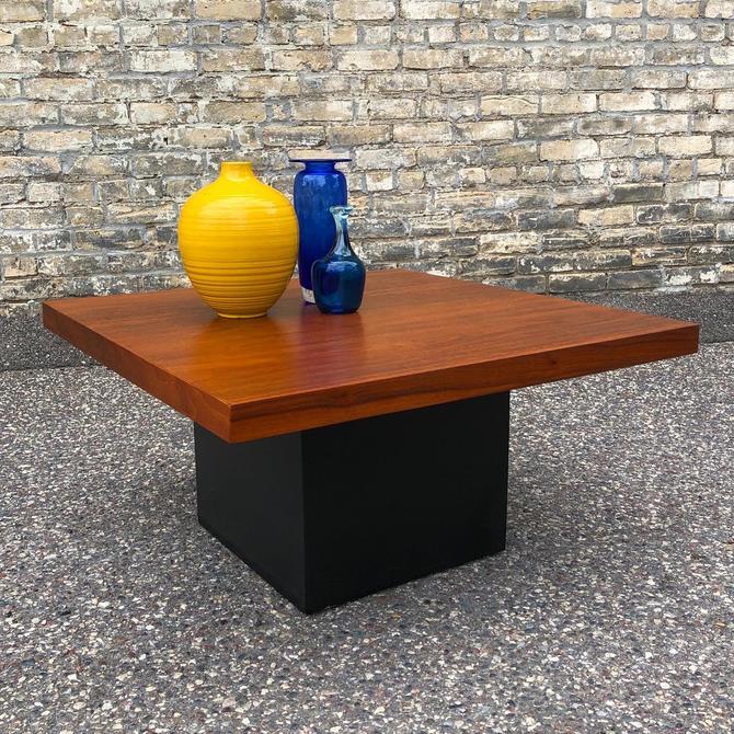 Milo Baughman Pedestal Coffee Table