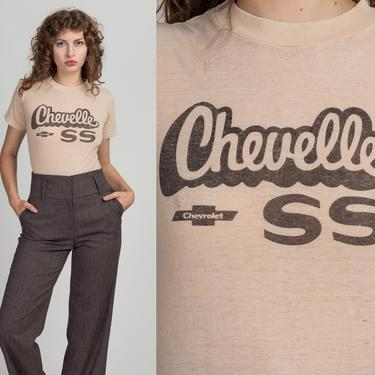 70s 80s Chevrolet Chevelle T Shirt - Small | Vintage Unisex Distressed Retro Graphic Classic Car Tee by FlyingAppleVintage