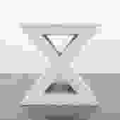 'X' Travertine Table