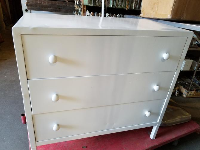 Metal Chest of Drawers 38 x 36.25 x 19