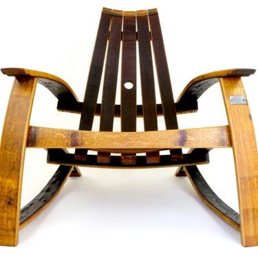 Wine Barrel Chair - Wine Barrel Lounge Chair - Patio Furniture - Barrel Furniture - Outdoor Adirondack Chair by HungarianWorkshop