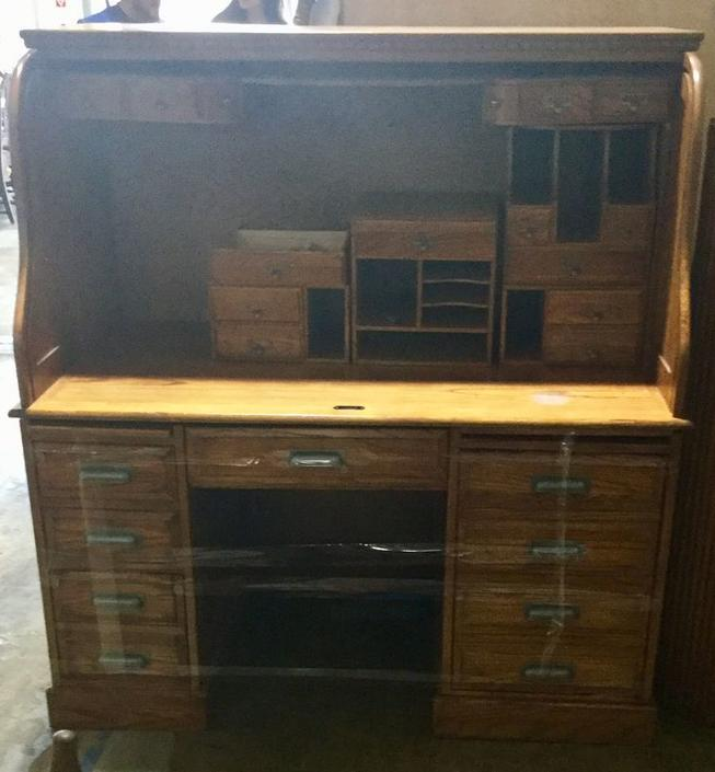 Vintage wooden desk available at Habitat for Humanity Restore Rockville for $350