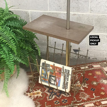 LOCAL PICKUP ONLY ———— Vintage End Table Floor Lamp by RetrospectVintage215