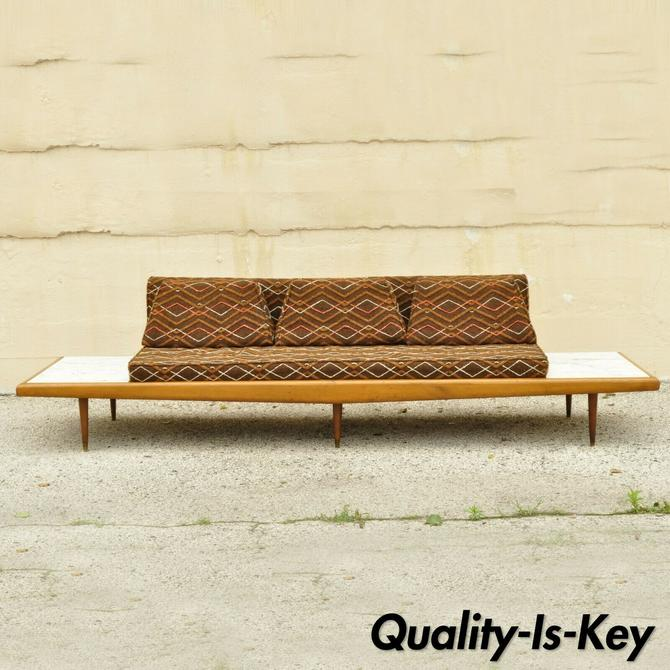 Mid Century Modern Long Gondola Daybed Sofa w/ Marble Attr. to Adrian Pearsall