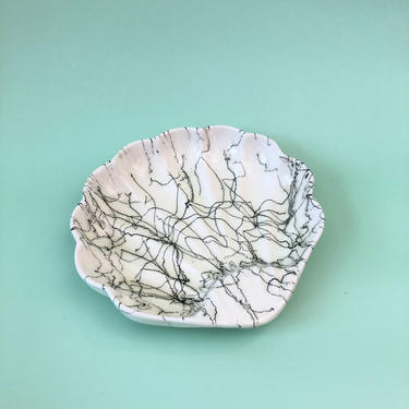 Mid Century Ceramic Squiggle Shell Tray by SergeantSailor