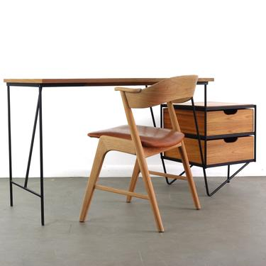 Rare Writing Desk by Vista California in Iron and Walnut, 1960s by ABTModern