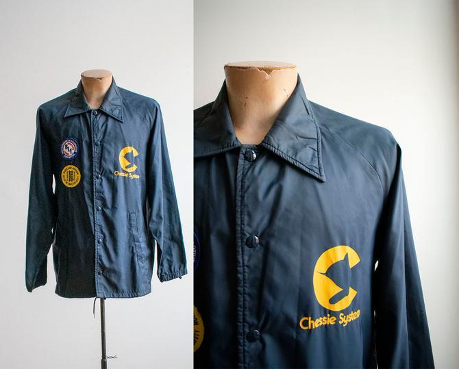 Vintage 1970s Windbreaker / Vintage Chess System Jacket / Vintage Maryland Railroad Jacket / Vintage 70s Locomotive Jacket / Vintage CSX by milkandice