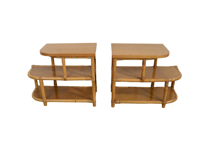 Bamboo and Rattan Side Tables made by Frankl Style Tochiku Industry by HearthsideHome