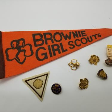 Lot of Retro Girl Scout Troup Items