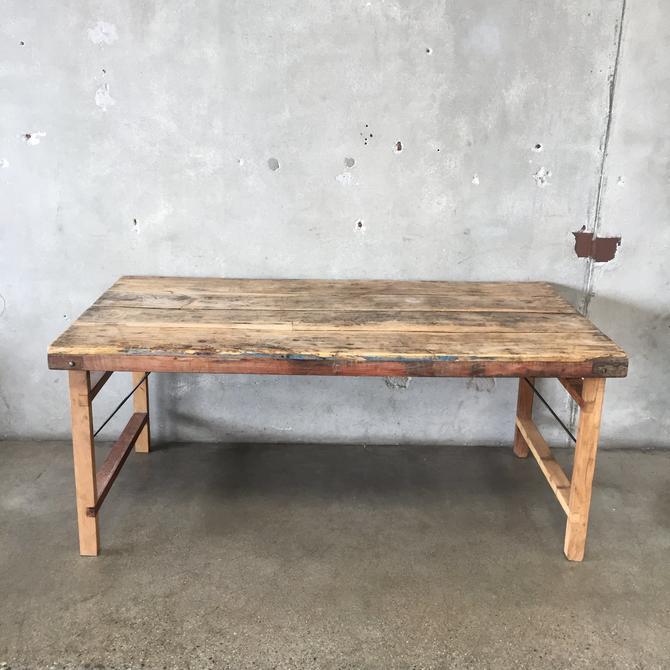Vintage Teak Folding Dining Table
