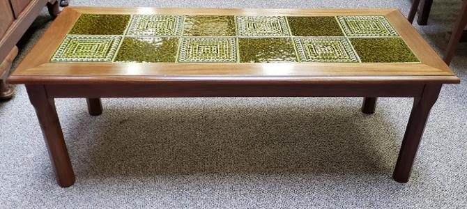 Item #S2004 Vintage Tile Top Coffee Table c.1970s