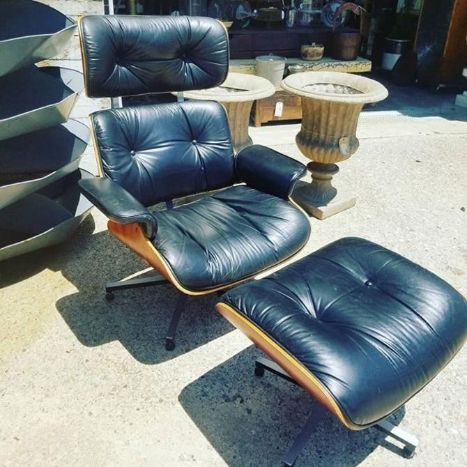 Mid Century Modern , Eames style recliner with ottoman. $650