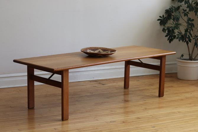 Mid Century Danish Modern Poul Volther Oak Coffee Table by SharkGravy