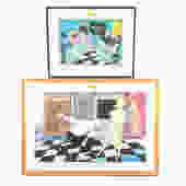 Mark Barry. Two Framed Color Offset Lithographs