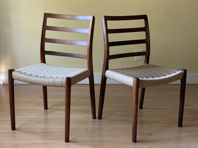 Four Model No 85 Rosewood Dining Chairs Niels Otto Moller for J.L. Moller, Set of Four by ASISisNOTgoodENOUGH