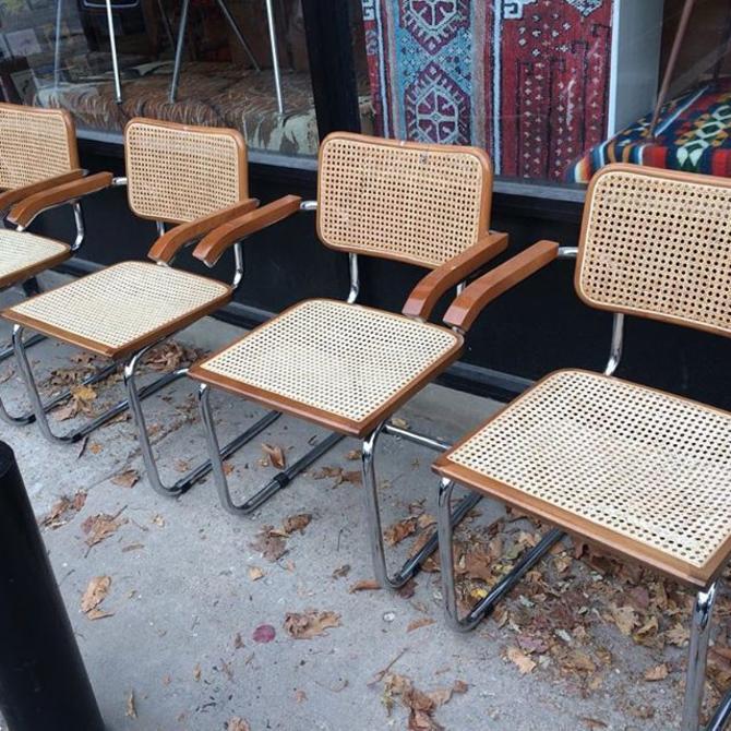 Four Marcel Breuer style chairs $189 #baltimore #midcenturymodern #marcelbreuer #retrofurniture