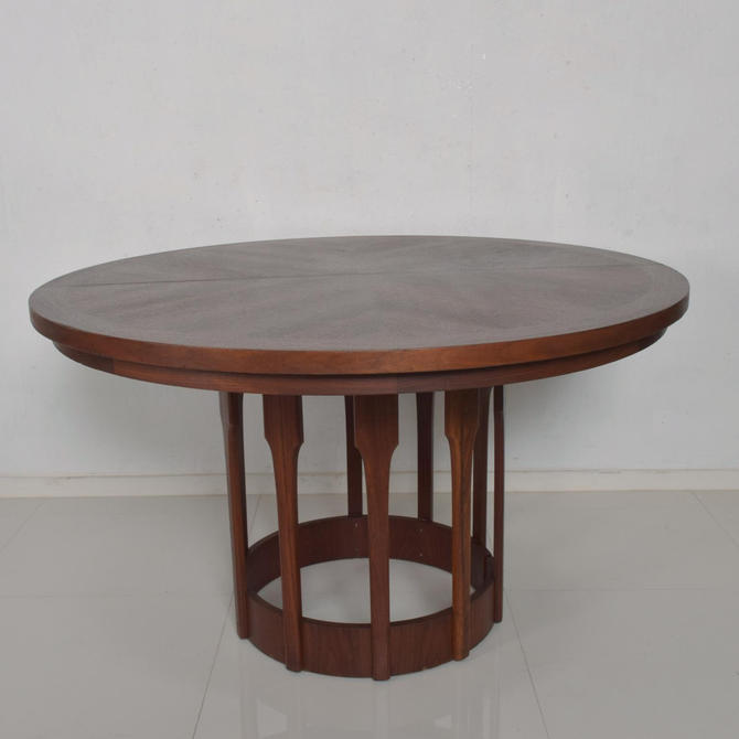 Mid Century Modern John Keal for Brown Saltman Sculptural Walnut Dining Table by AMBIANIC