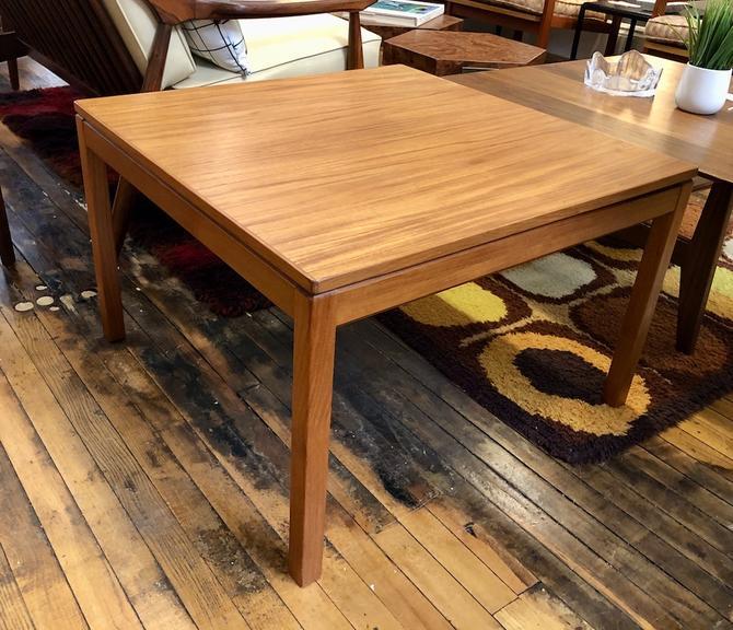 Danish Modern Teak Square Coffee Table