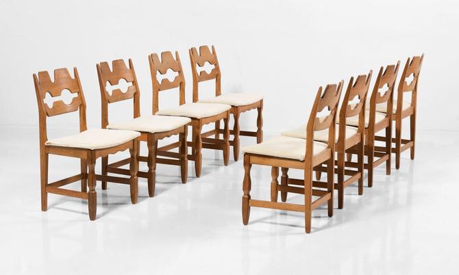 "Set of (8) ""Razor"" Chairs by Henning Khaernulf"
