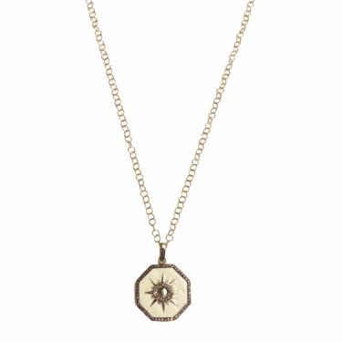 Sunburst Enamel Charm Necklace
