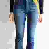 Acne Studios Pop Flag Print Jeans, Size 34