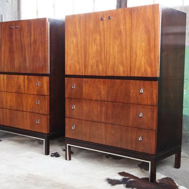 QUALITY Pair (sold separately) Mid Century Case Pieces / Cabinets storage Bar Dresser bookshelf Danish Modern MCM American of Martinsville by CatchMyDriftVintage