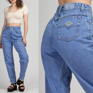 "Vintage Levi's High Waist Mom Jeans - Medium, 28.5"" | 80s 90s Acid Wash High Rise Denim Tapered Leg Jeans by FlyingAppleVintage"