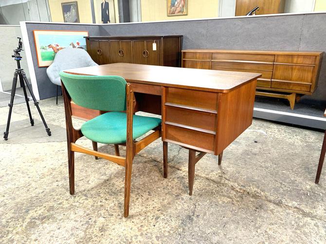 Danish teak executive desk