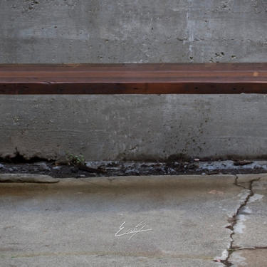 Wood and Steel Bench by EvansWoodshopDesign