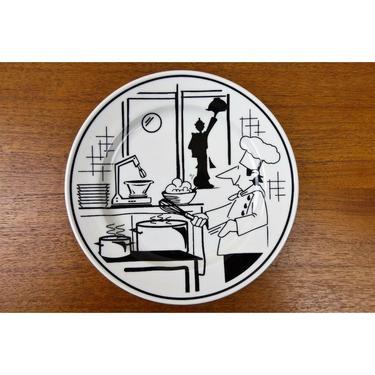 Oneida Classic B&B Bread Plates - Restaurantware - 9803C - HTF Chef Cartoon by TheFeatheredCurator