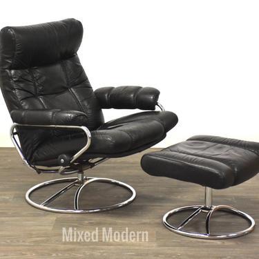 Ekornes Stressless Leather Recliner & Ottoman by mixedmodern1