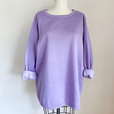 Vintage 1990s Lavender Purple Sweatshirt / M/L by MsTips