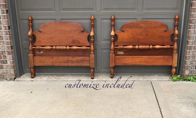 pair of twin beds . Customize any color by Dianemarieshome