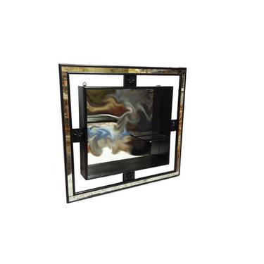 Vintage Wall Mirror - Mid Century Modern Shadow Box Mirror, Eames Wall Hanging, Knick Knack Display Shelf, RETRO Shadowbox, 1950s Mirror by AGoGoVintage