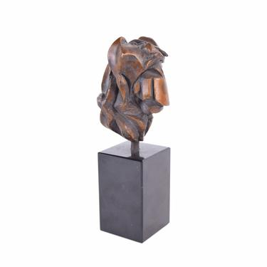 Vintage Mid-Century Modern Brutalist Abstract Bronze Heart Sculpture numbered #3 by PrairielandArt