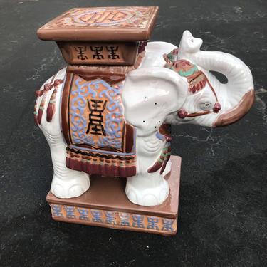 Cute vintage elephant garden stool / table by HolbrookBazaar