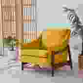 Mustard Tweed Danish DUX Lounge Chair