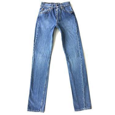 RARE XXS Levi's 501 Vintage Jeans / Size 22 23 by NoteworthyGarments